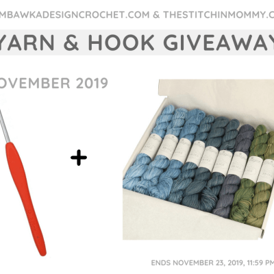 Monthly Yarn and Hook Giveaway – November 2019 featuring Scheepjes and Clover