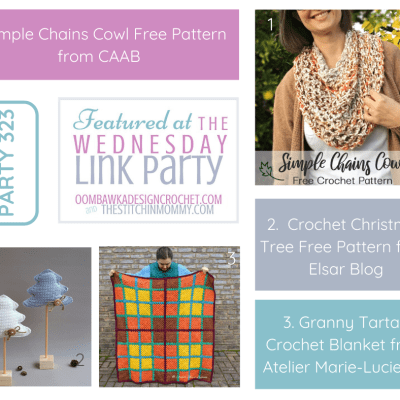 The Wednesday Link Party 323 featuring Simple Chains Cowl Pattern