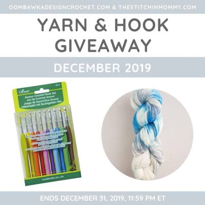 Monthly Yarn and Hook Giveaway – December 2019 featuring SweetGeorgia and Clover