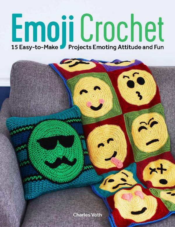 Emoji Crochet by Charles Voth - Book Review and Giveaway | www.thestitchinmommy.com