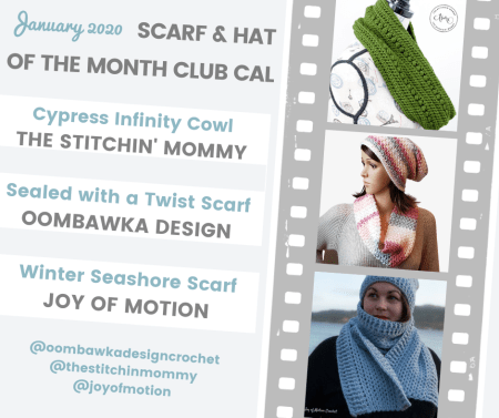 2020 Scarf and Hat of the Month Club hosted by The Stitchin' Mommy and Oombawka Design - January Scarf Patterns #ScarfHatoftheMonthClub2020 | www.thestitchinmommy.com