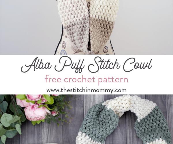 Alba Puff Stitch Cowl – Free Crochet Pattern