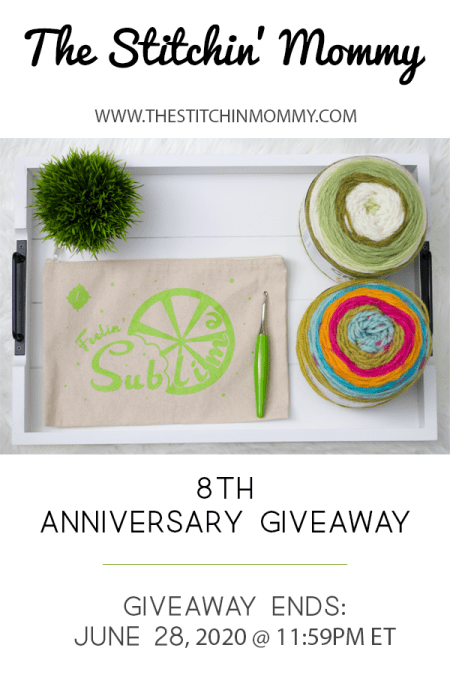 The Stitchin' Mommy Anniversary Giveaway: June 13, 2020 - June 28, 2020 | www.thestitchinmommy.com