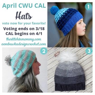 Choose Your Own 2017 CAL Adventure! Month 4 – April Hats