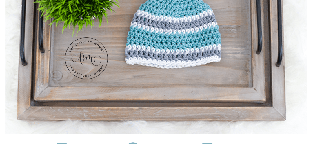 Basic Striped Beanie – Free Crochet Pattern