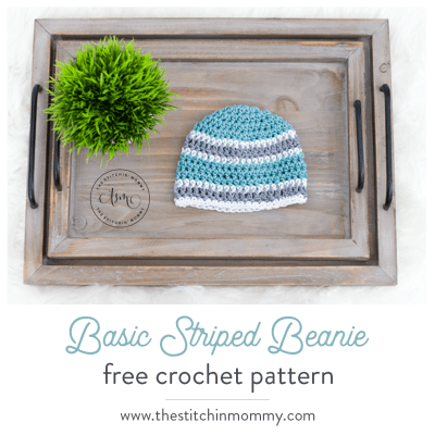 Basic Striped Beanie – Free Crochet Pattern