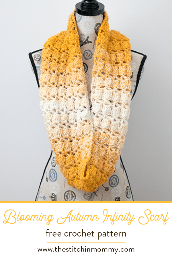 Blooming Autumn Infinity Scarf Free Crochet Pattern The Stitchin