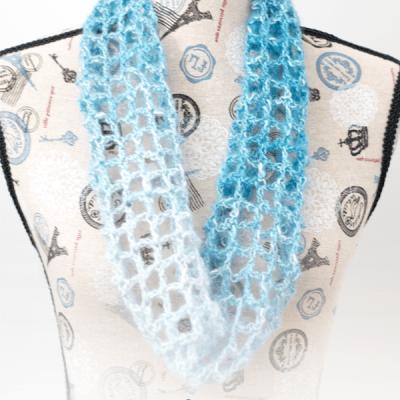 Blue Lace Cowl – Free Crochet Pattern