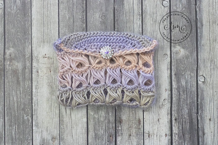 Broomstick Lace Pouch Free Crochet Pattern The Stitchin Mommy