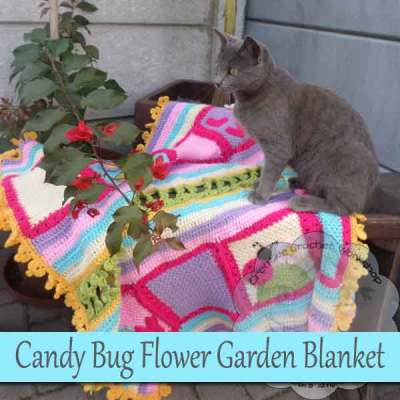 Candy Bug Flower Garden Blanket – Free Crochet Pattern