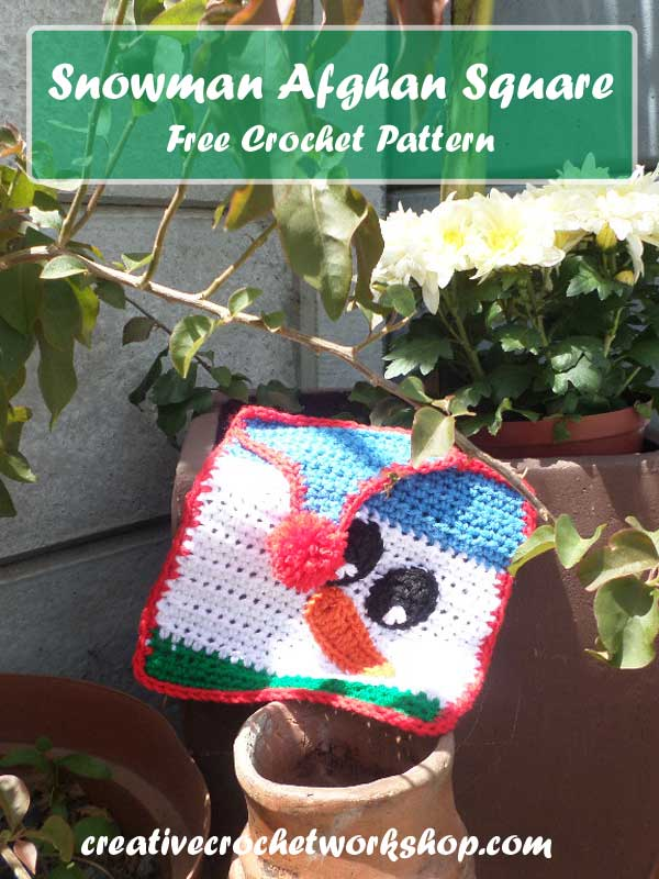 Snowman Afghan Square Free Crochet Pattern The Stitchin Mommy