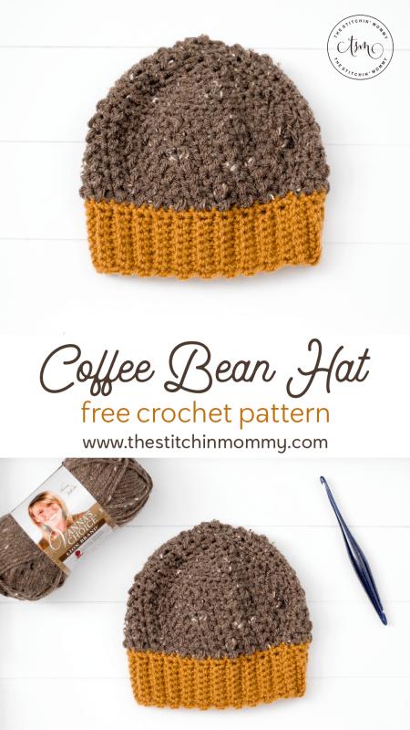 Coffee Bean Hat - Free Crochet Pattern #HatoftheMonth | www.thestitchinmommy.com
