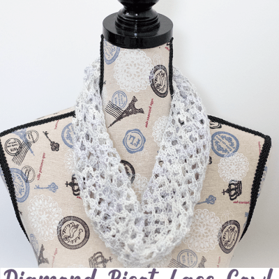 Diamond Picot Lace Cowl – Free Crochet Pattern