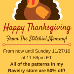 Happy Thanksgiving from The Stitchin' Mommy