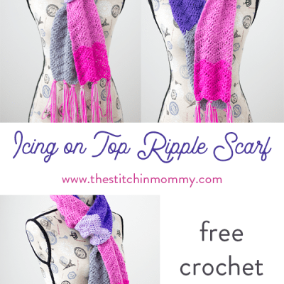 Icing on Top Ripple Scarf – Free Crochet Pattern