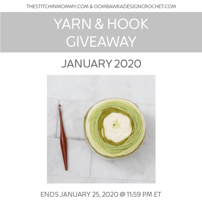 Monthly Yarn and Hook Giveaway – January 2020 featuring Caron Cakes and Furls