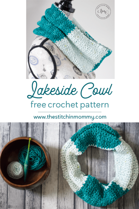Lakeside Cowl - Free Crochet Pattern | Scarf of the Month Club hosted by The Stitchin' Mommy and Oombawka Design | www.thestitchinmommy.com #ScarfoftheMonthClub2019