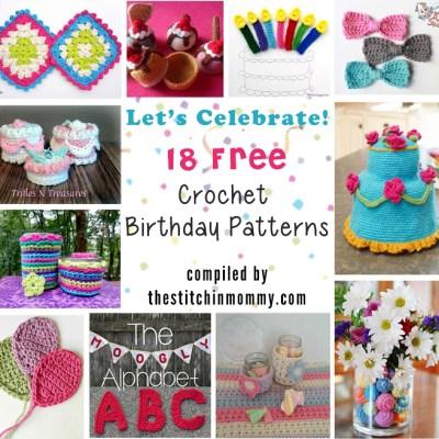 Let's Celebrate! 18 Free Crochet Birthday Patterns