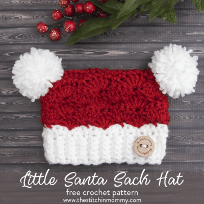 Little Santa Sack Hat – Free Crochet Pattern: Preemie to Adult Large
