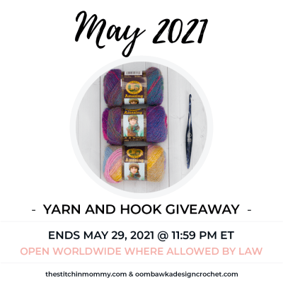 May Yarn and Hook Giveaway featuring Lion Brand and Furls