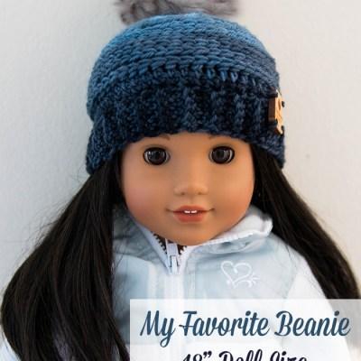My Favorite Beanie: 18 Inch Doll Hat – Free Crochet Pattern