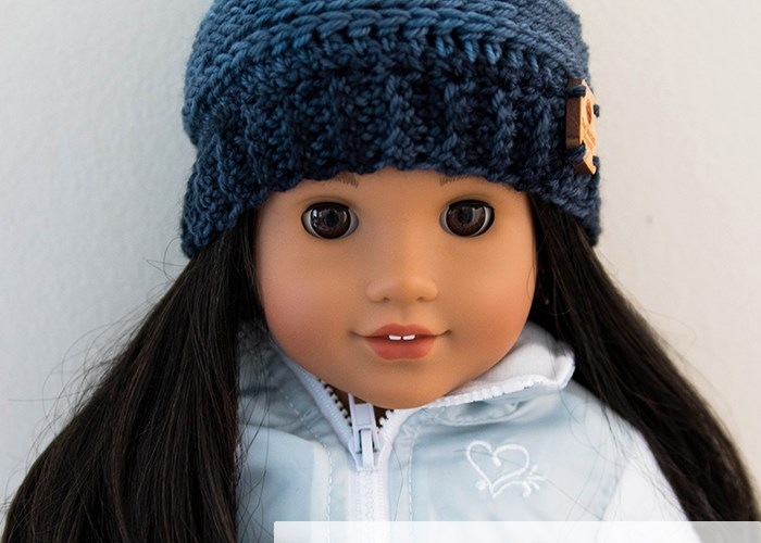 My Favorite Beanie: 18 Inch Doll Hat – Free Crochet Pattern