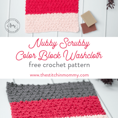 Nubby Scrubby Color Block Washcloth – Free Crochet Pattern