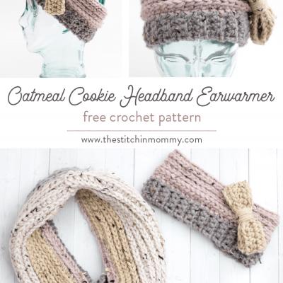 Oatmeal Cookie Headband Earwarmer – Free Crochet Pattern