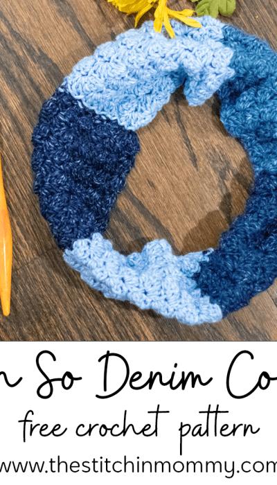 Oh So Denim Cowl – Free Crochet Pattern