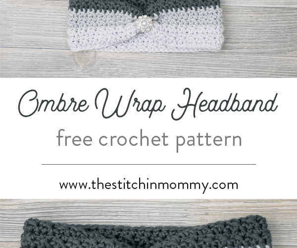Ombre Wrap Headband – Free Crochet Pattern