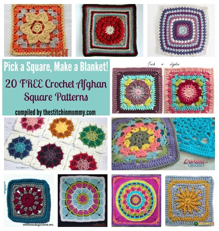 Pick A Square Make A Blanket 20 Free Crochet Afghan Square