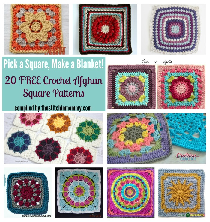 Pick A Square Make A Blanket 20 Free Crochet Afghan Square