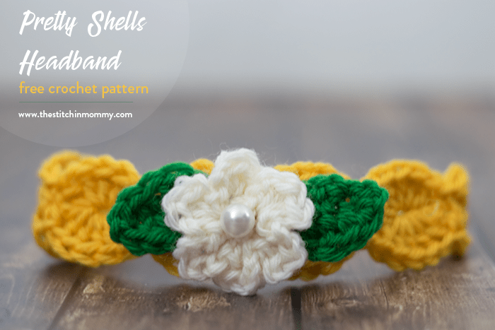 Pretty Shells Headband Free Crochet Pattern The Stitchin Mommy