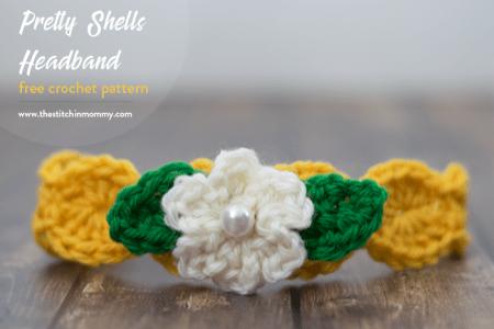 Pretty Shells Headband - Free Crochet Pattern | www.thestitchinmommy.com