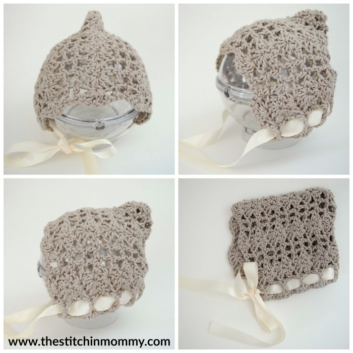 Pretty Shells Newborn Pixie Bonnet - Free Crochet Pattern | www.thestitchinmommy.com