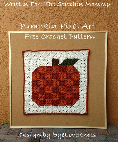 Pumkin Pixel Art - Free Crochet Pattern by EyeLoveKnots for The Stitchin' Mommy | www.thestitchinmommy.com