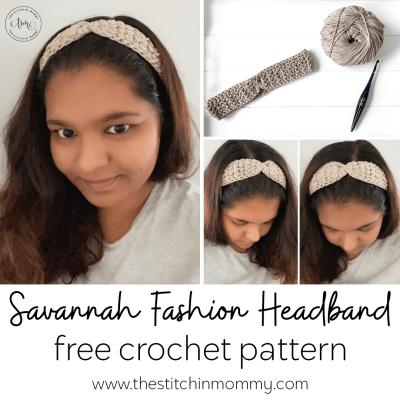 Savannah Fashion Headband – Free Crochet Pattern