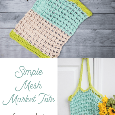 Simple Mesh Market Tote – Free Crochet Pattern