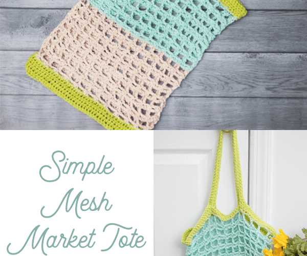 Simple Mesh Market Tote – Free Crochet Pattern
