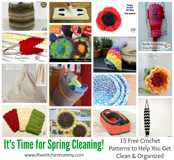 Its Time For Spring Cleaning 15 Free Crochet Patterns To Help You
