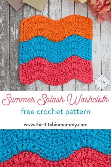 Summer Splash Washcloth - Free Crochet Pattern | 2018 Washcloth Crochet Along #CALCentral | www.thestitchinmommy.com