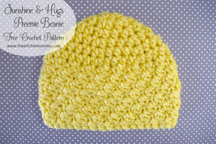 Sunshine And Hugs Preemie Beanie Free Crochet Pattern The Awesome Preemie Crochet Patterns
