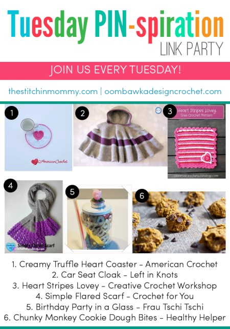 The NEW Tuesday PIN-spiration Link Party Week 25 (2/20/2017) - Rhondda and Amy's Favorite Projects | www.thestitchinmommy.com