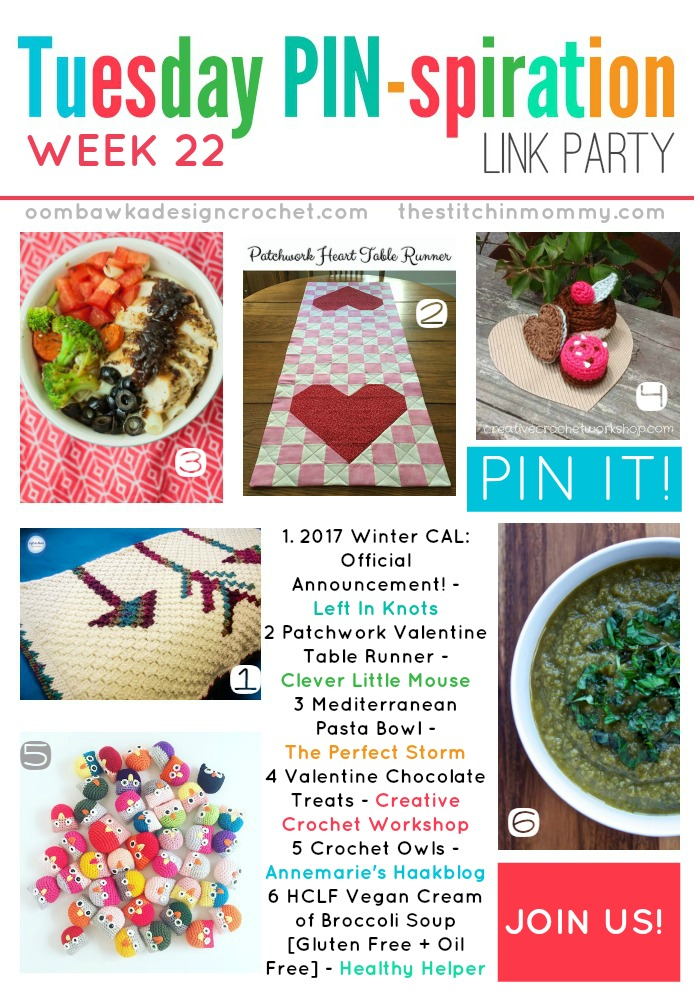 The NEW Tuesday PIN-spiration Link Party Week 22 (1/30/2017) - Rhondda and Amy's Favorite Projects | www.thestitchinmommy.com