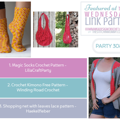 The Wednesday Link Party 308 featuring Magic Socks Crochet Pattern