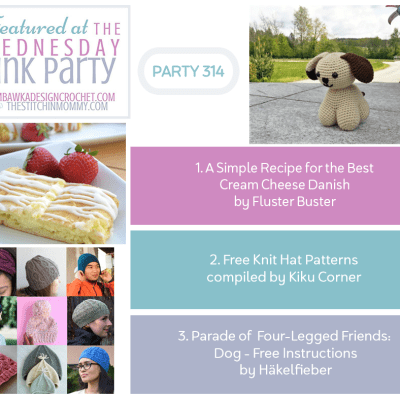 The Wednesday Link Party 314 featuring the Best Cream Cheese Danish