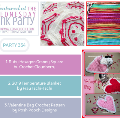 The Wednesday Link Party 334 featuring Ruby Hexagon Granny Square
