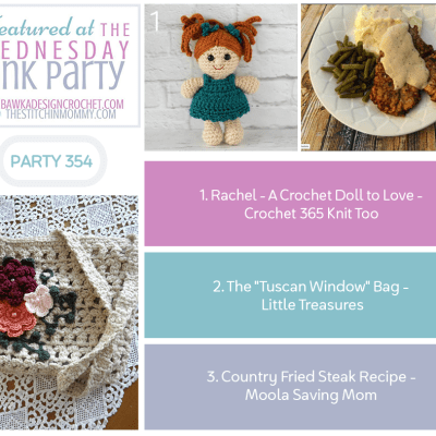 The Wednesday Link Party 354 featuring a Crochet Doll
