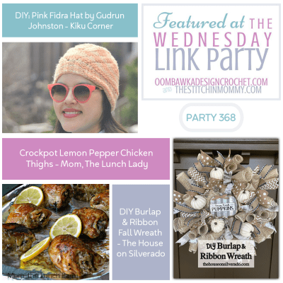 The Wednesday Link Party 368 featuring the Pink Fidra Hat