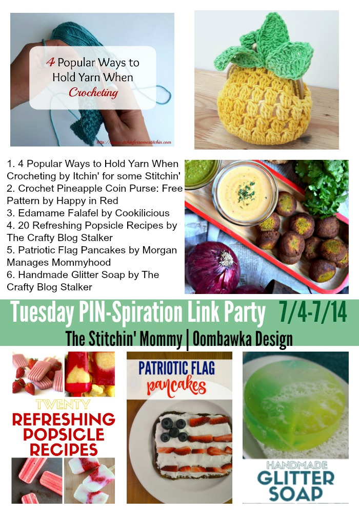 The NEW Tuesday PIN-spiration Link Party Week 7 (7/14/2016) - Rhondda and Amy's Favorite Projects | www.thestitchinmommy.com